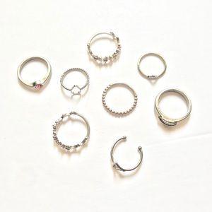 Lot of Silver Midi Rings